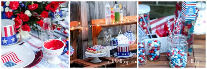 Red, White & Blue Outdoor Party Theme2