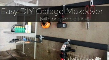 Do you have a junky garage? Here's one simple way to clean up the clutter- Get tips on cleaning the garage- Easy DIY Garage Makeover