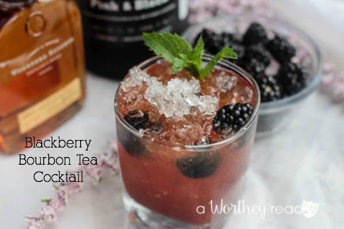Blackberry Bourbon Tea Cocktail