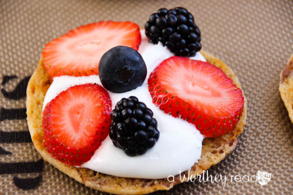 How about a fruit filled summertime S'mores? Yup! Your favorite fall campfire treat gets a makeover! Butterfinger Cookie S'mores with Summer Fruit