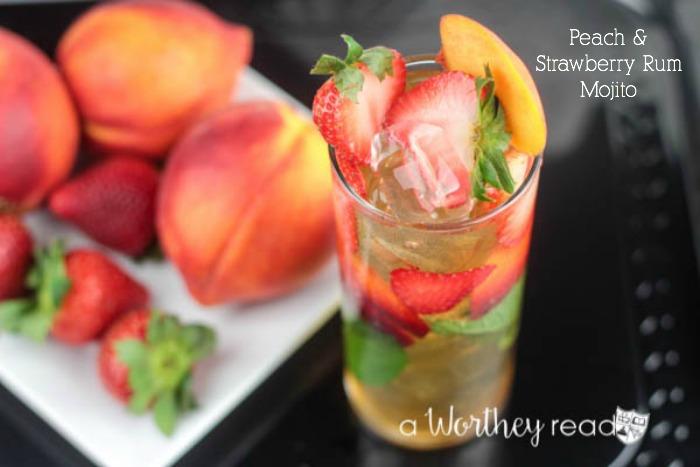 Peach & Strawberry Rum Mojito