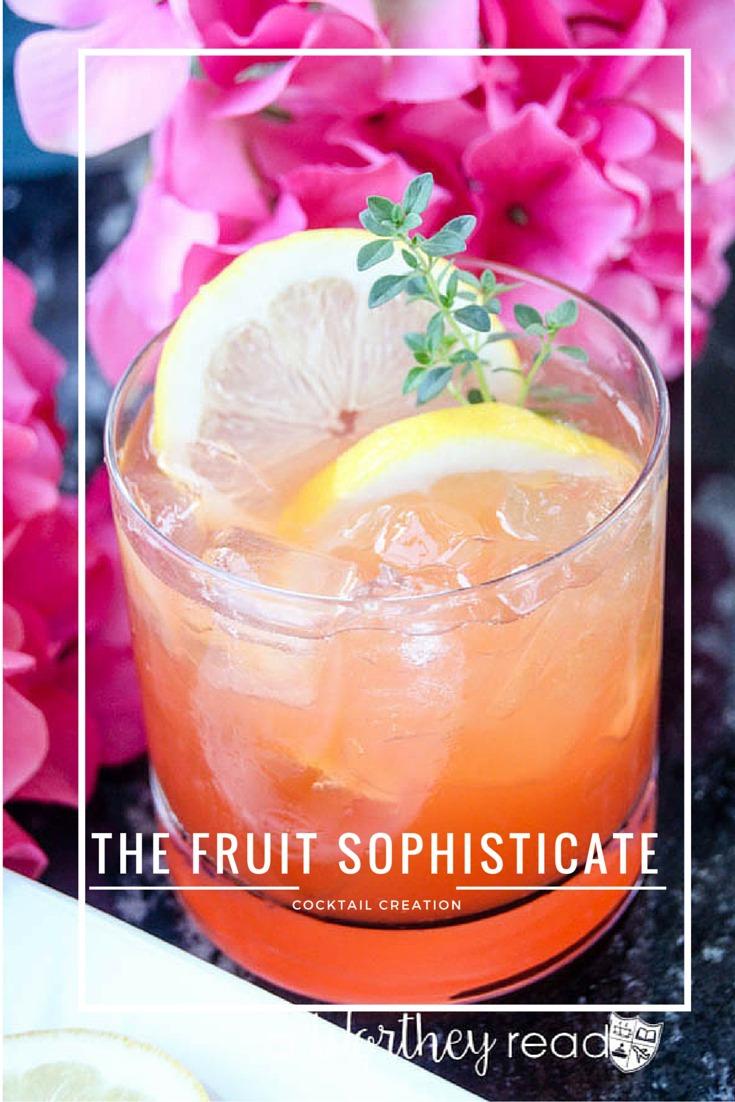 Light & Refreshing Cocktail using vodka, blood orange juice- The Fruit Sophisticate Cocktail