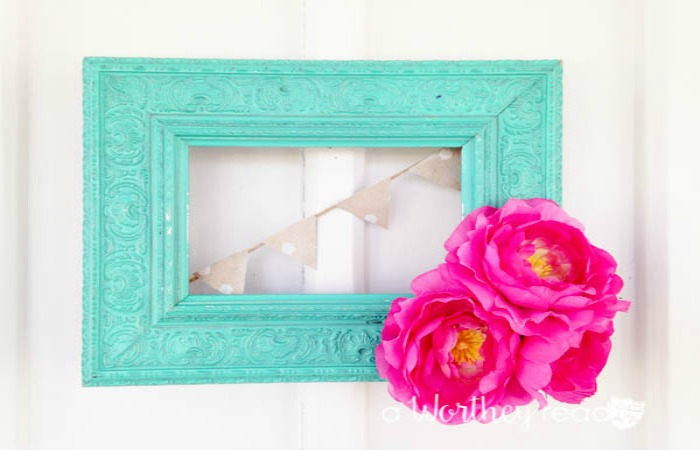 Upcycle Ideas For Picture Frame Wreath This Worthey Life Food