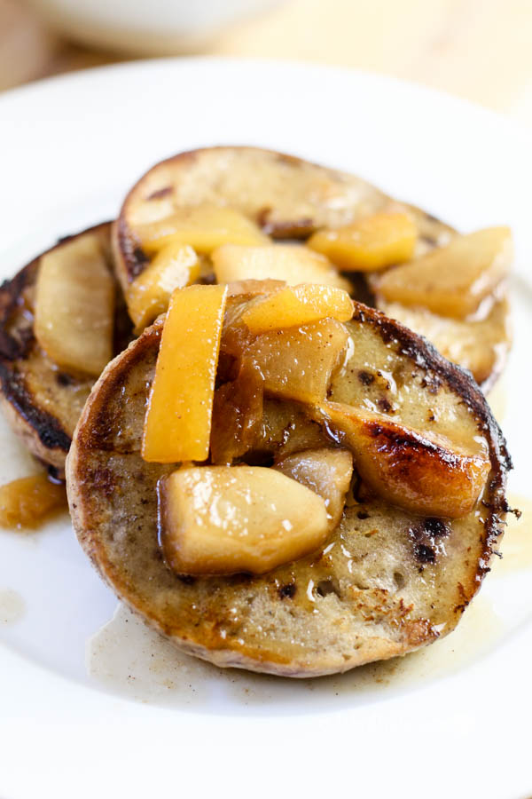 French Toast Blueberry Bagels with Peaches & Plums - This ...