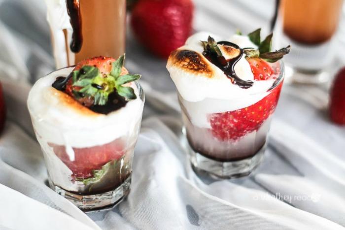 Toasted Strawberry Shots