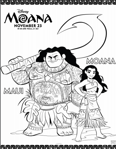 Disney movie Moana printable activities