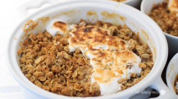 Bourbon Apple Crisp with Salted Caramel & Toasted Marshmallow