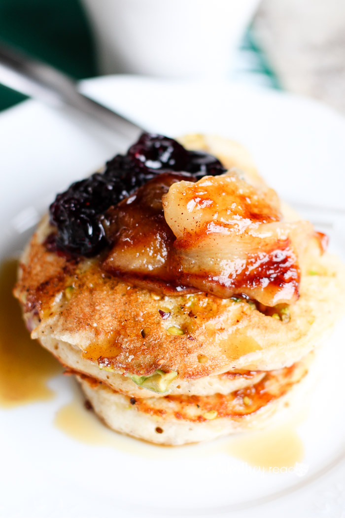 Start your morning off right with a healthy and delicious breakfast. Our easy buttermilk pancake recipe can be made in a matter of minutes, and you can make it two ways. Click through to get the recipe for our Easy Buttermilk Pancakes with Pistachios & Blueberry Capote