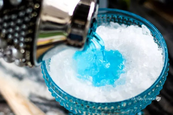 Easter Blue Italian Ice Cocktail