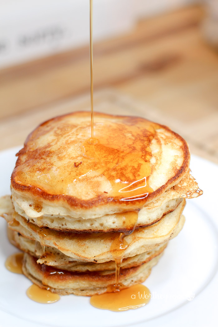 The Best Buttermilk + Cornmeal Pancakes