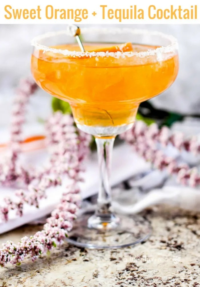 Try our Sweet Orange + Tequila Cocktail. We called upon the ripe sweetness of navel oranges, about two ounces, one ounce of Triple Sec, an ounce and a half of tequila, and three ounces of tonic water. This fun cocktail will be great for a girl's night out, summer BBQ, or a fun way to chill on a hot summer's day!