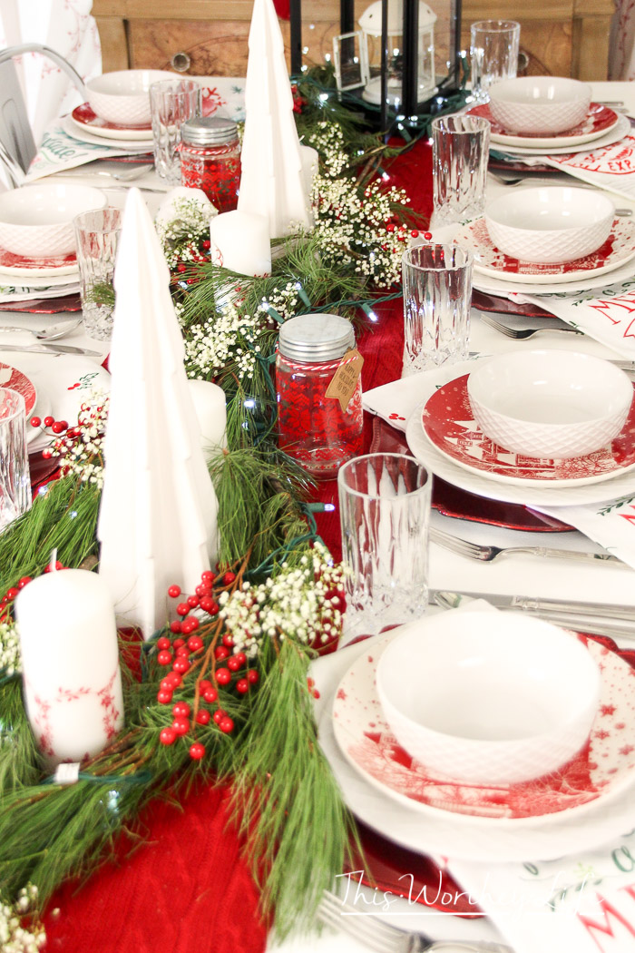 Christmas Table Decor Idea