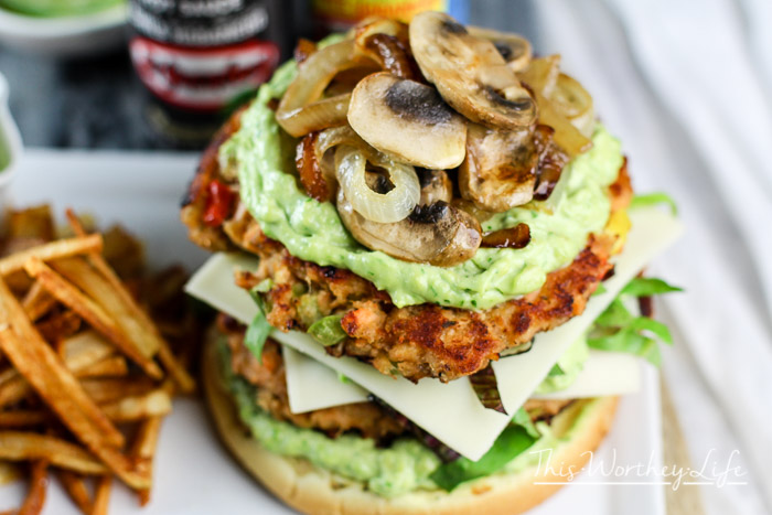 Double Salmon Burger with Avocado Mayo