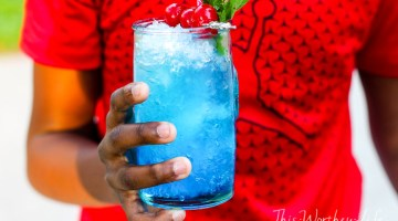 Frozen Blue Rose Mint Julep Mocktail Recipe