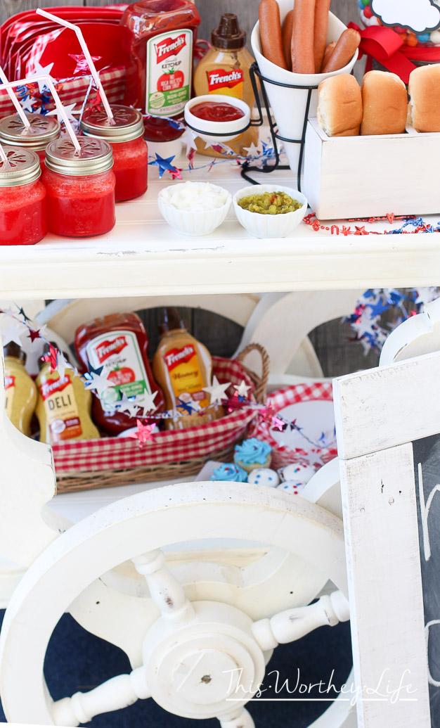 DIY Hot Dog Station