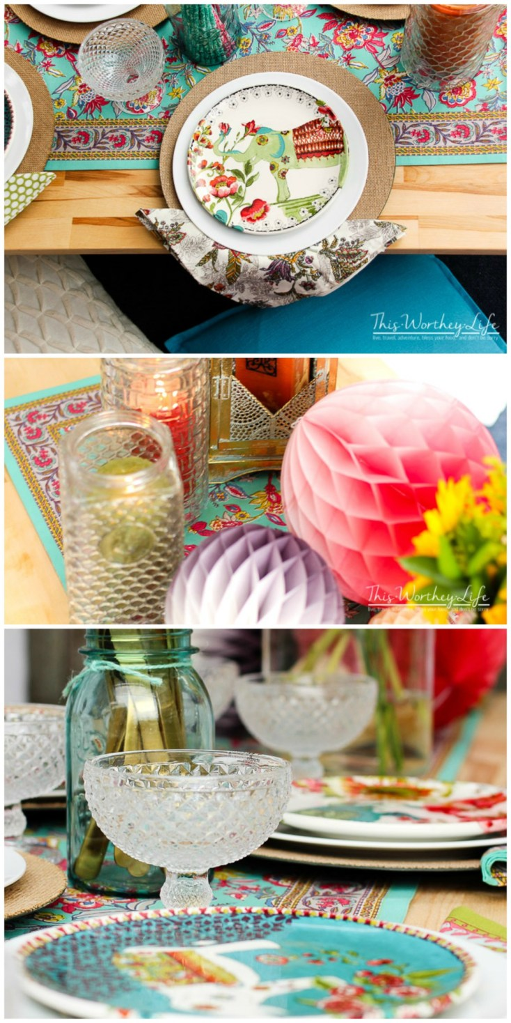 Plan your summer party outside the box with this fun, elegant outside picnic party idea! I'm giving you some tips on pulling off a summer outdoor tablescape idea and creating a feng shui vibe your guests will love!