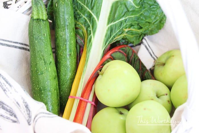 Fresh ingredients for summer salad