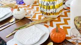 Fall Owl Tablescape Idea