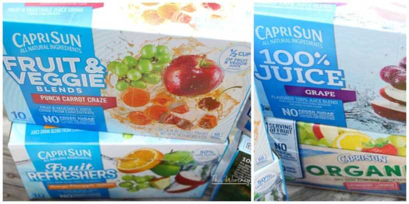 New Capri Sun Juice Boxes