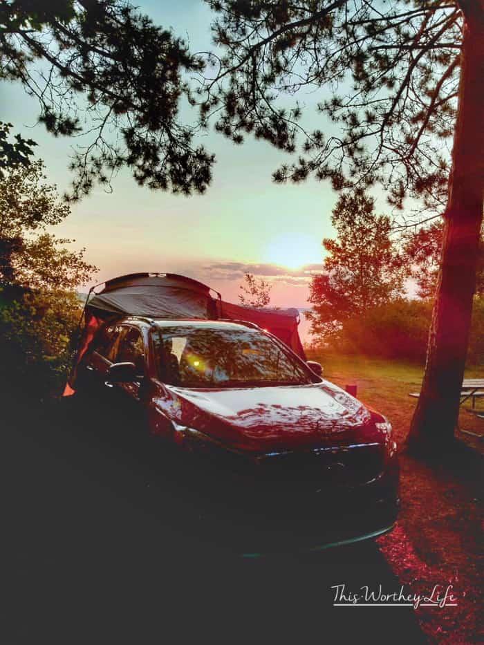 Camping at Pictured Rocks, Michigan