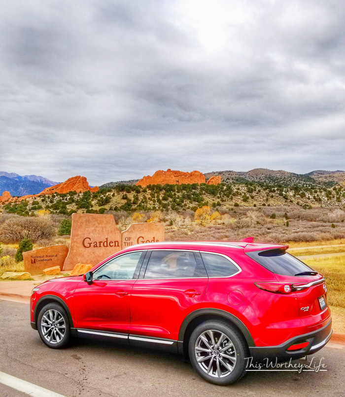 Seeing Garden of the Gods in a Mazda CX 9