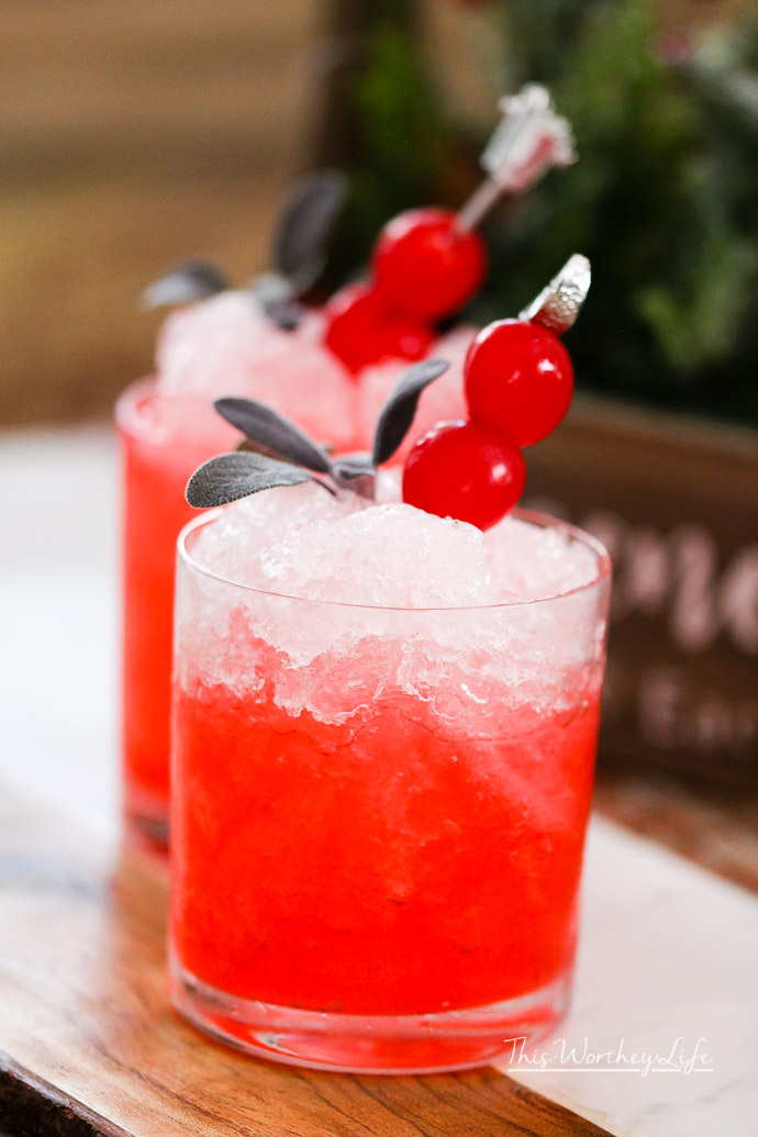 Cherry Christmas Mocktail