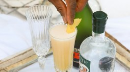Ring in the New Year with a French 75 Cocktail. You can make it two ways- with Gin or Cognac. I'm showing how to make a French 75 Cocktail with Gin and with Cognac.