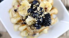 The Best Blueberry Waffles