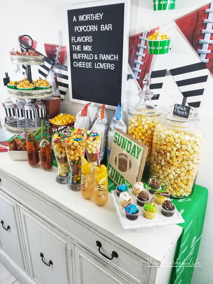 How to throw a Game Day Popcorn Party