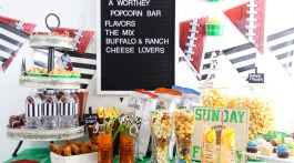 Create the ultimate popcorn bar for your next movie night in, game day watch party, awards party, birthday party, or upcoming celebration. A popcorn bar is a fun way to showcase a variety of popcorn flavors in unique and creative ways.
