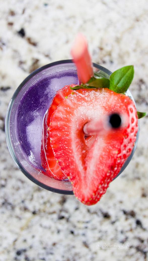 Lavender + Rhubarb Gin Drink