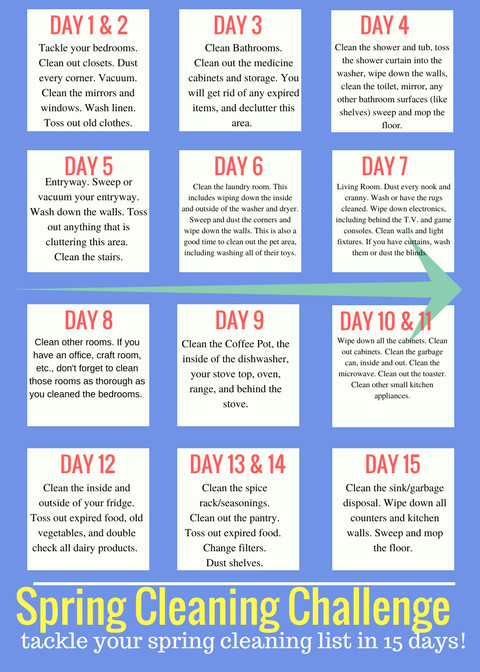 Spring Cleaning Challenge Printable