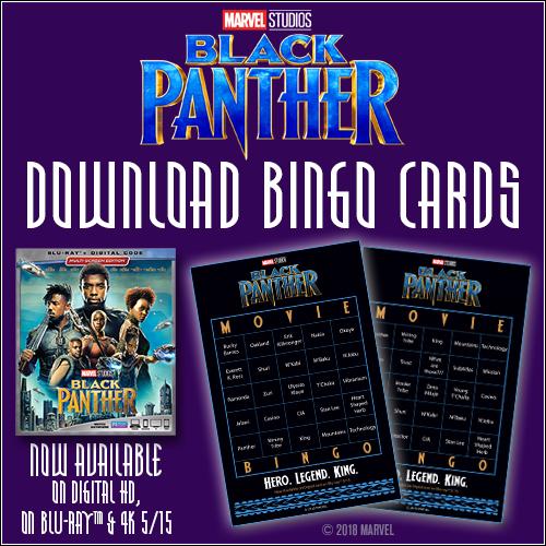 Free Black Panther Download - Black Panther Bingo Cards