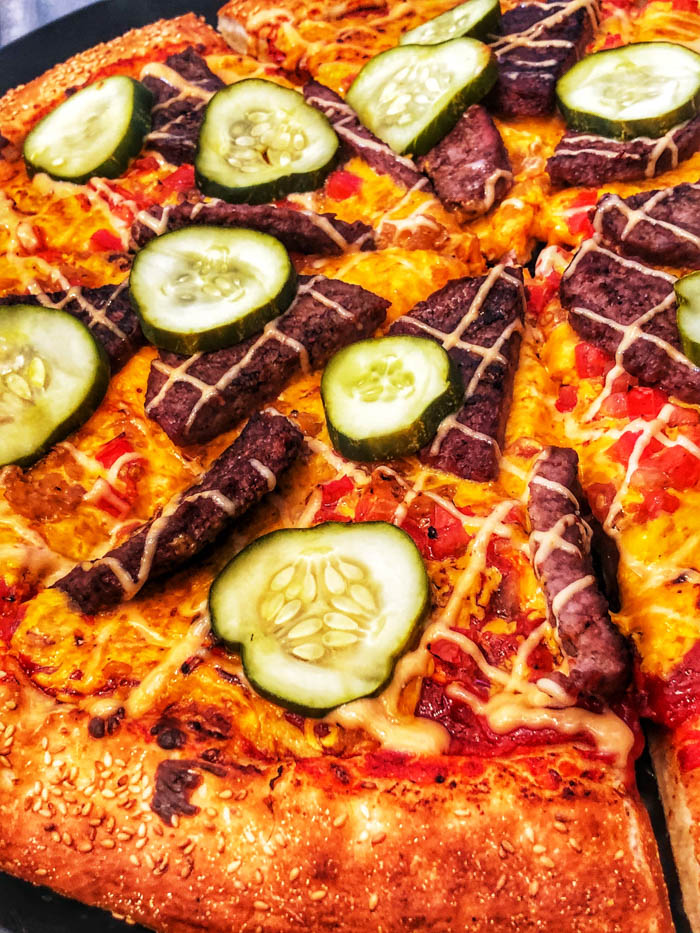 Pizza Planet- Alien Cheeseburger Pizza