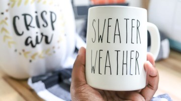 Sweater Weather Rae Dunn DIY Inspired Mug