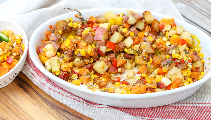 I'm sharing tips on keeping your perishable items cold while visitng at farmers market, as well as a delicious breakfast or brunch recipe: Loaded Sweet Potato Skillet filled with fresh veggies picked up at the farmers market.