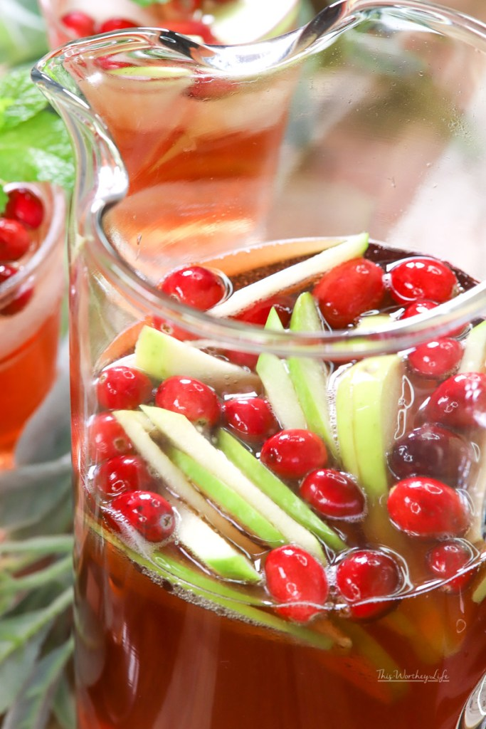 This sweet and festive holiday cocktail is a delicious and sweetRosé Sangria. Celebrating the holidays just got a little easier with a holiday Sangria, you'll want to drink again and again.