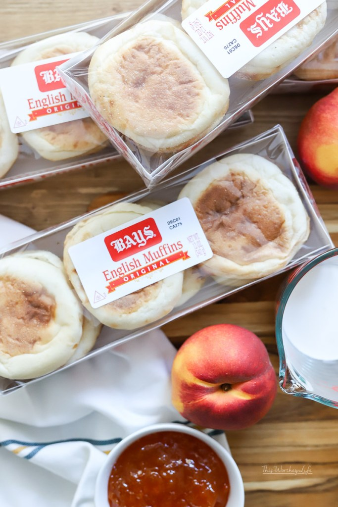 Ingredients for Peach Melba French Toast Recipe