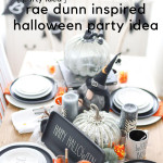 Get inspired for Halloween with this quick-easy-to-put-together Rae Dunn Inspired Halloween Party idea. I loved putting together a variety of fun pieces to pull off a fun, but classy Halloween tablescape, perfect for a party or a dinner party!