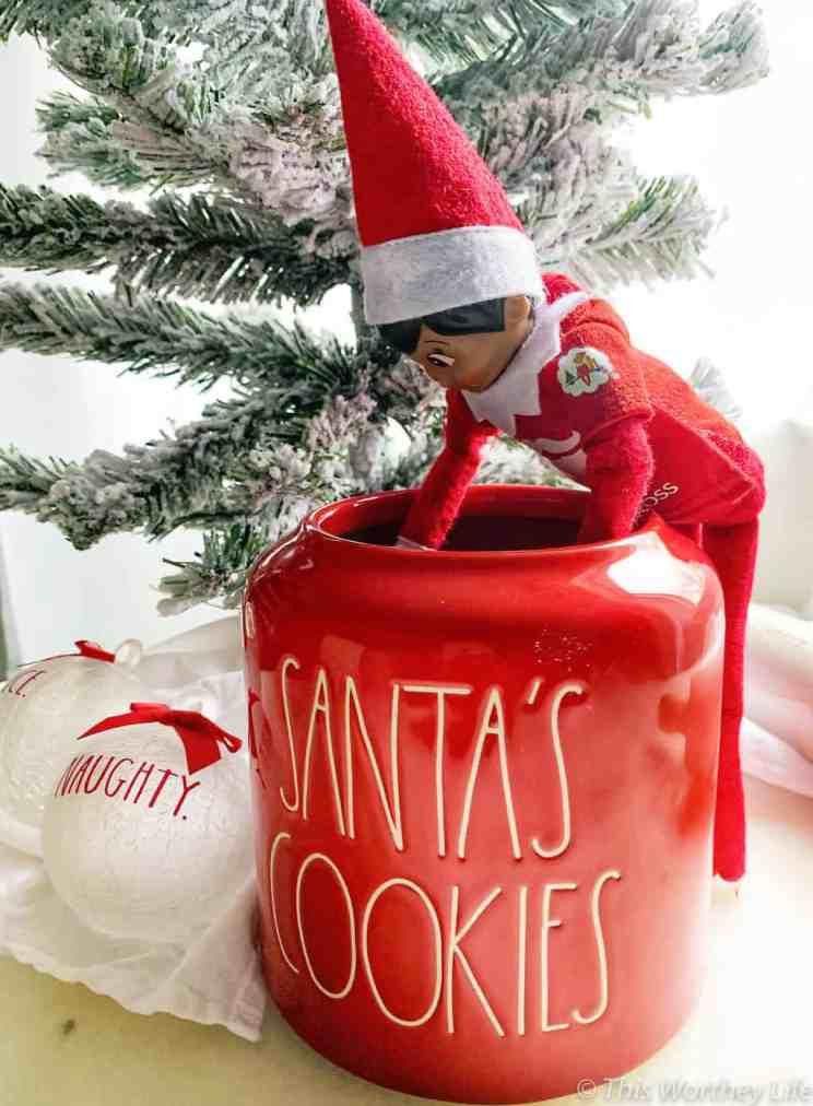 best Elf on the shelf ideas using a Black Elf