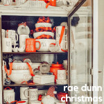 Get inspiration on how to display your Rae Dunn Christmas pieces with this roundup of Rae Dunn Christmas display ideas.