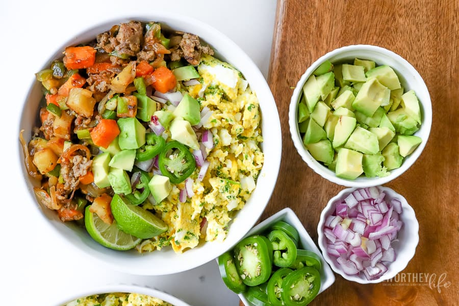 Loaded Breakfast Bowl with potatoes