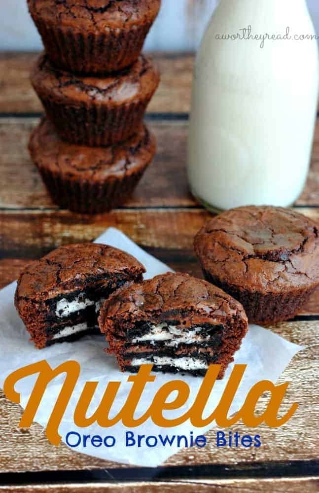Recipe for Nutella Oreo Brownie Bites