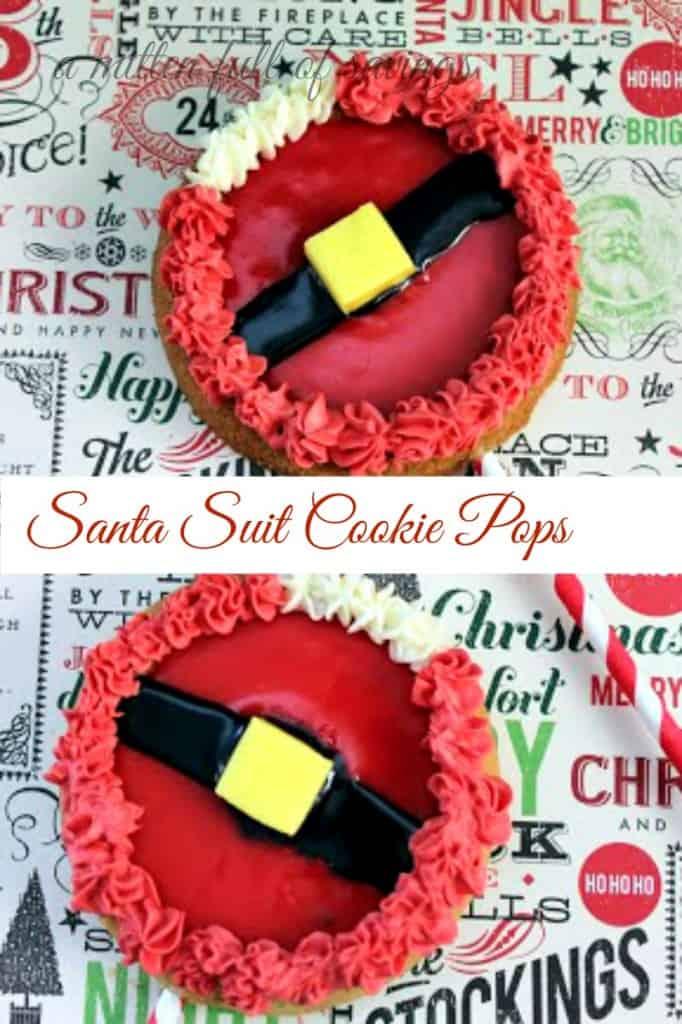 Christmas Recipe- Santa Suit Cookie Pop