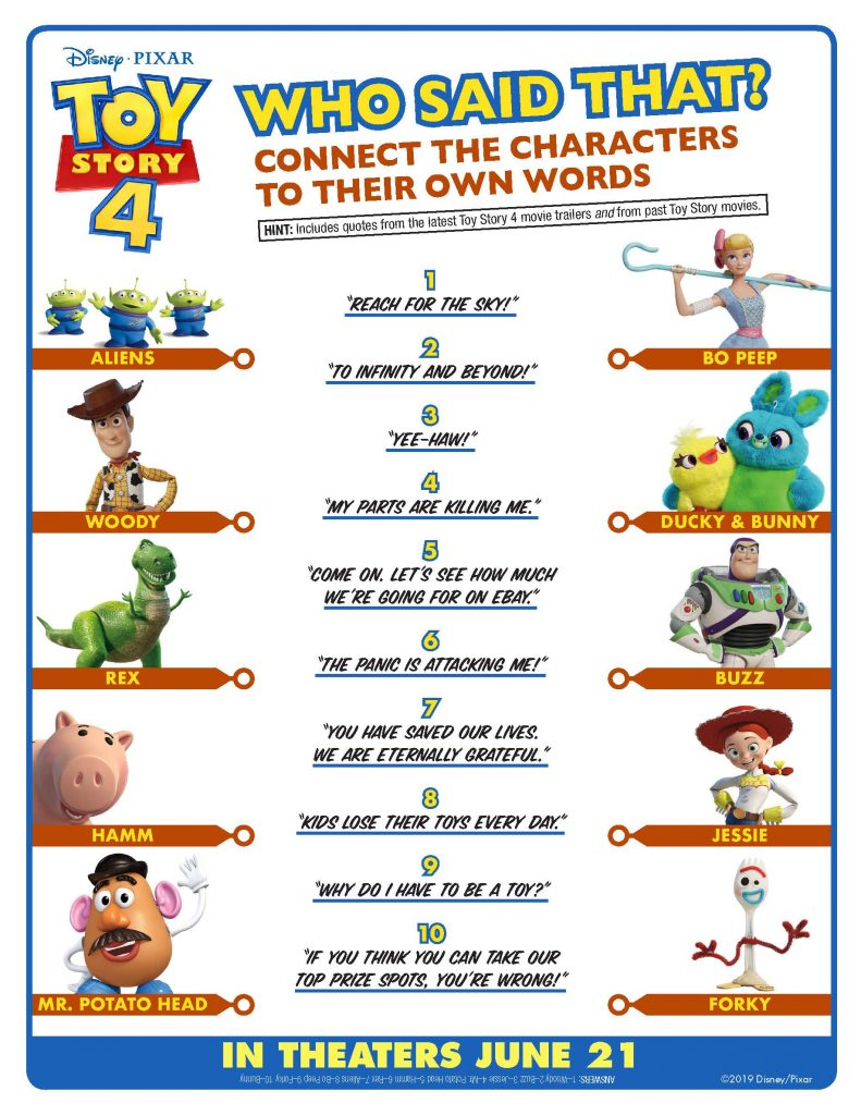 FREE Toy Story 4 printables for a party