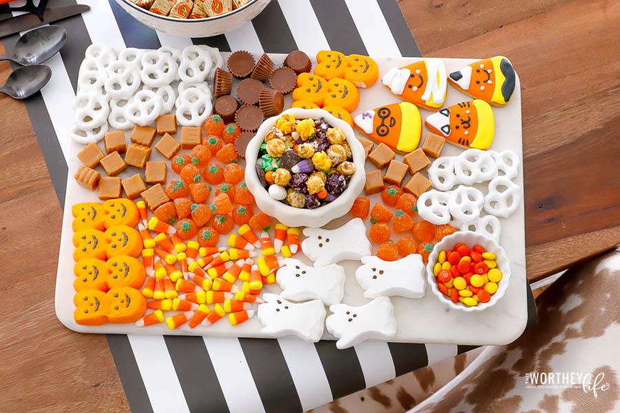 Halloween food board