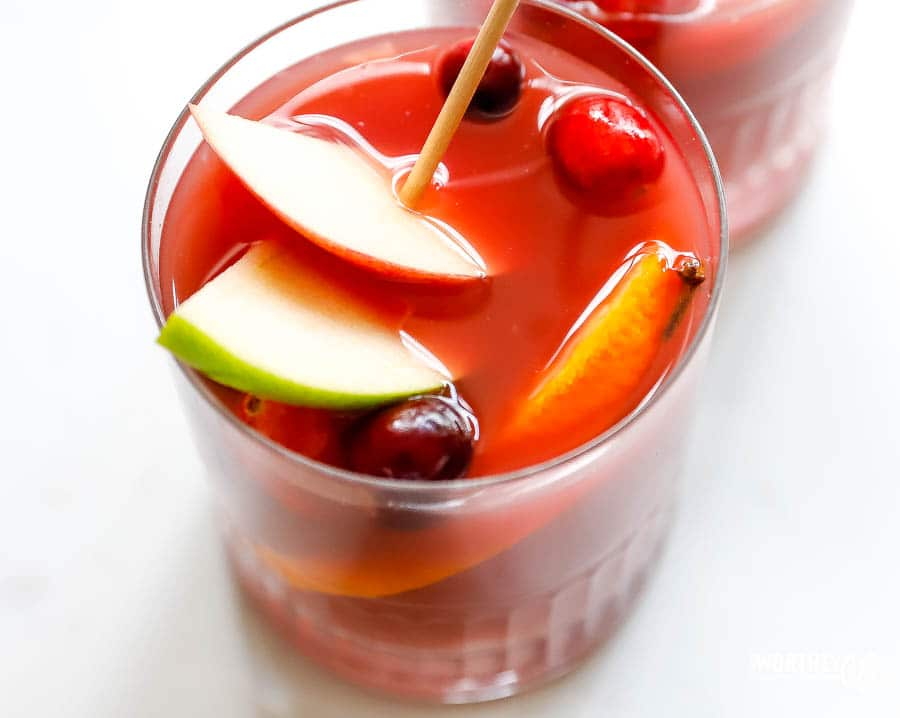 The best fall sangria mocktail