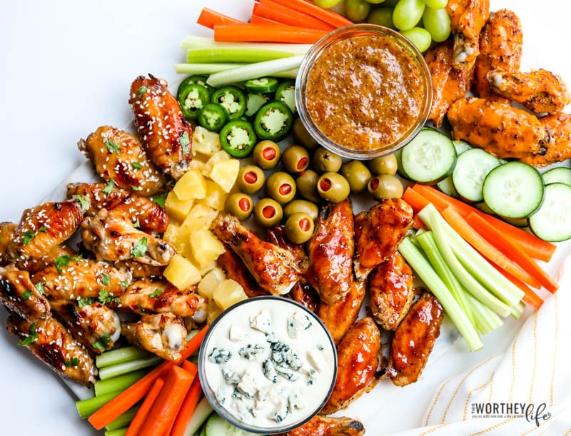 Chicken Wings Grazing Board for Game Day