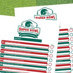Super Bowl Predictions Printable