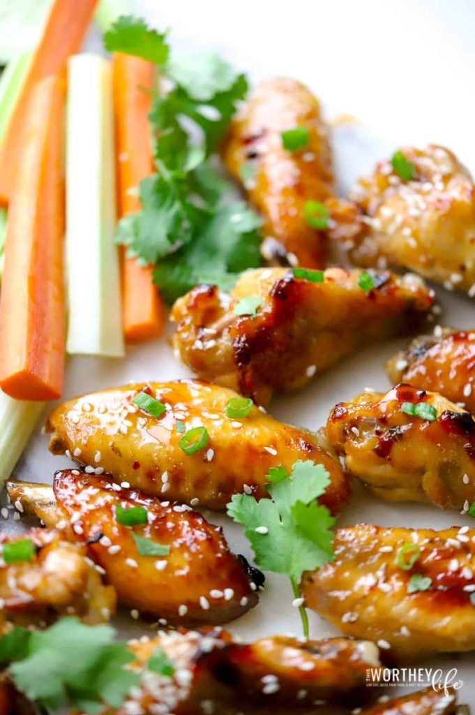 upclose photo of chicken thai wings